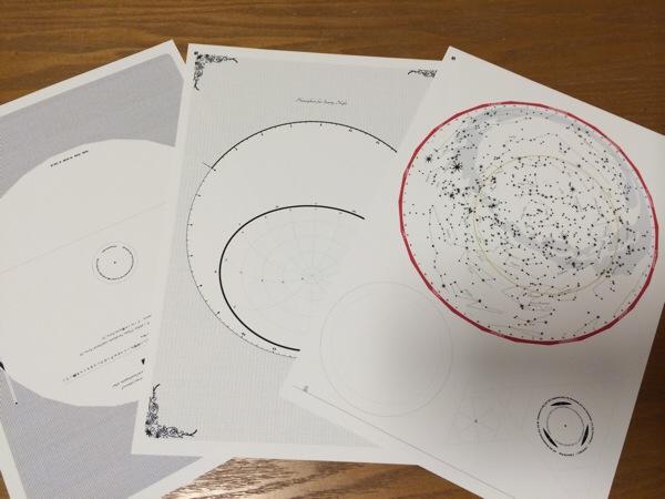 宙ガールワークショップに向けて、手作り星座早見盤を試作してみた
