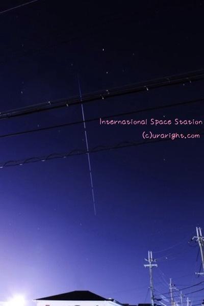 昇り竜みたいな国際宇宙ステーションの写真が撮れた!!