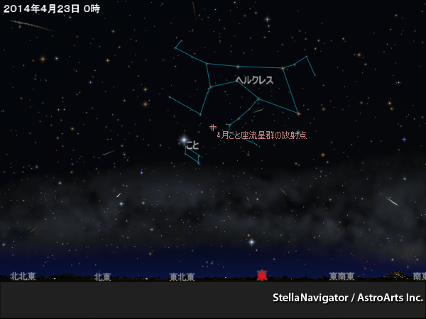 火曜日も夜更かし!こと座流星群だから流れ星に出会えるかもしれない件