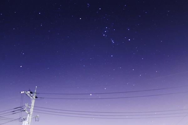 冬の星座が美しく瞬いていたので、写真撮りました!