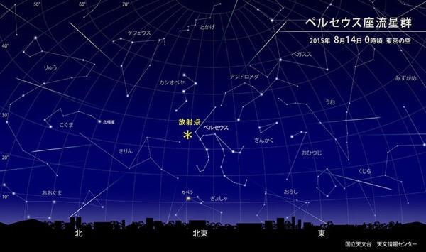 ペルセウス座流星群をみる5つのコツ【8月12〜14日】